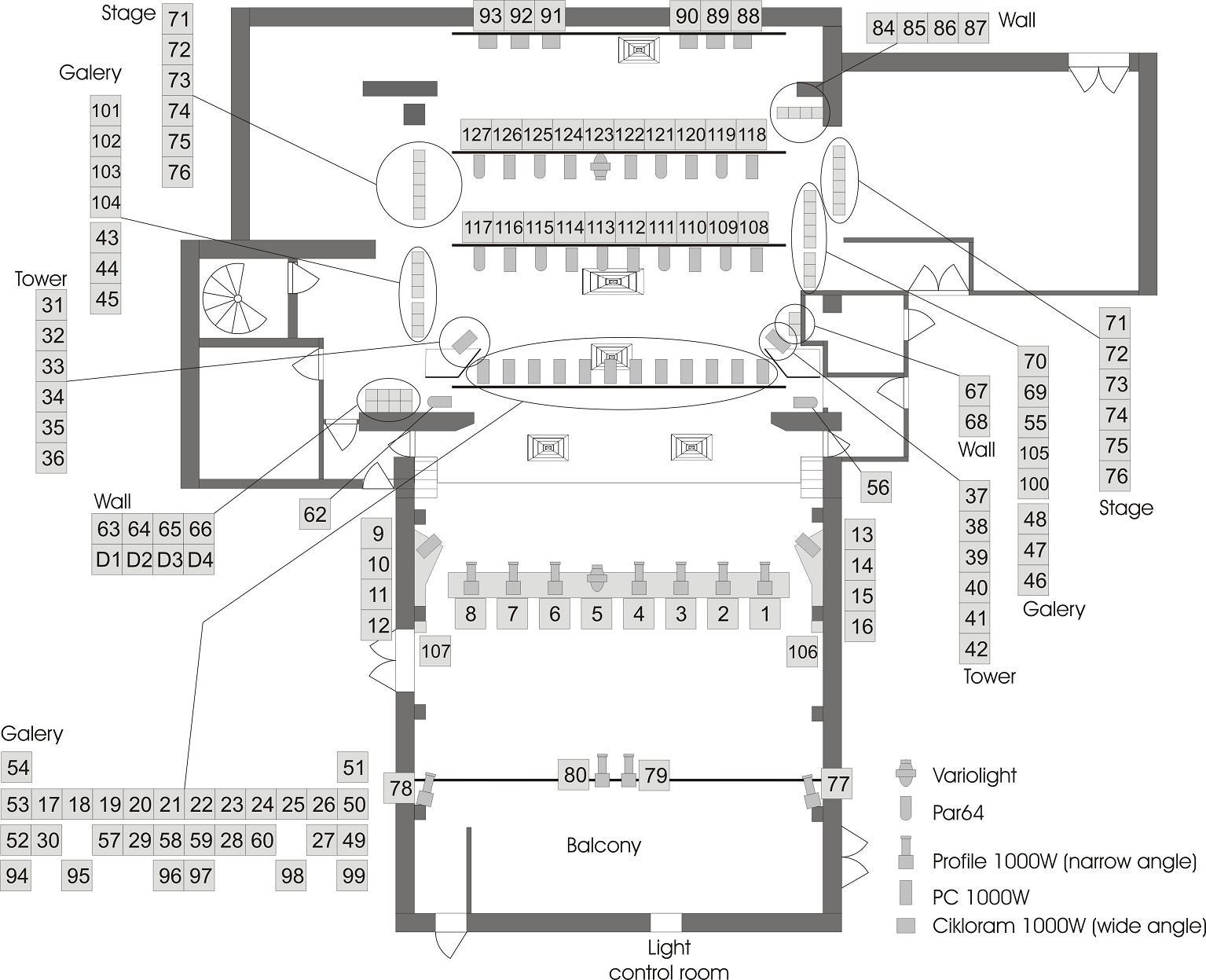 theatre lighting plan